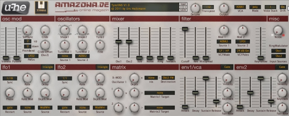 Cool And Free New VST Synth Tyrell N6 By Urs Heckmann